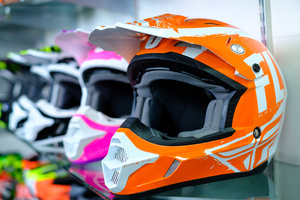 Motorcycle helmets for sale at Winton Motorcycles