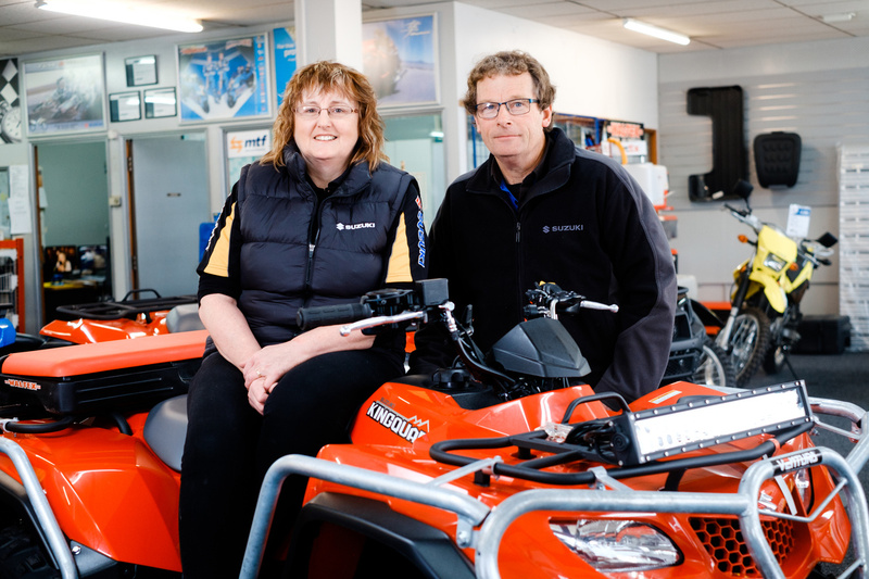 Blair & Alena- Owners of Winton Motorcycles